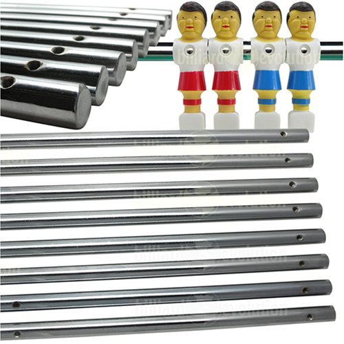 Billiard Evolution Set of 8 Solid Foosball Rods for Foosball Table
