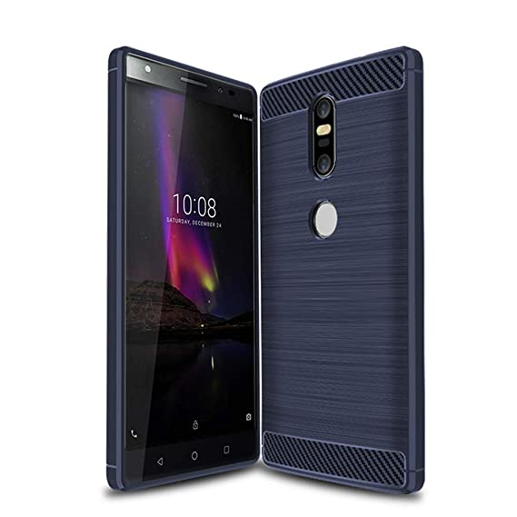 check out 594f0 a24ab Lenovo Phab 2 Plus Case, Soft TPU Carbon Fiber Design Silicone Cases Cover  for Phab2 Plus PB2-670M PB2-670Y PB2-670N 6.44 inch (Bleu, Lenovo Phab 2 ...