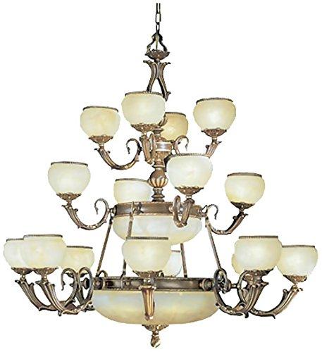 Classic Lighting 69516 VBZ Alexandria II, Cast Brass and Glass, Chandelier, Victorian Bronze
