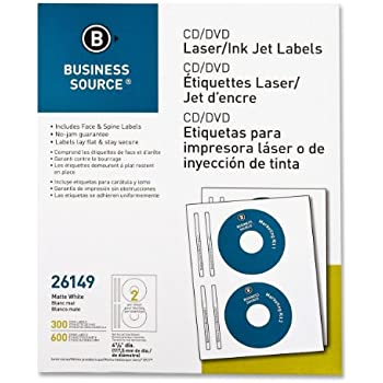 Amazon.com : Business Source CD/DVD Laser/Inkjet Label : Printer ...