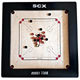 Carrom Board with Coins and Striker, 24mm Full Size Bull 10000