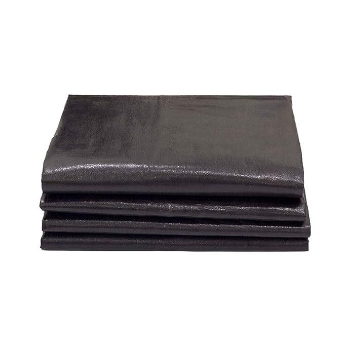 Lona impermeable Carpa a prueba de polvo gruesa Cubierta protectora de lona de protección solar tejida de alta densidad Negro, cobertizo de estacionamiento ...