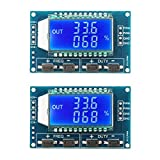 Pulse Generator, DROK 2pcs LCD Display PWM Signal Generator Module Frequency Meter 1Hz-150kHz Adjustable Duty Ratio 0~100% Square Wave Rectangular Wave Signal Generator Board