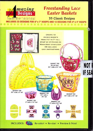 Freestanding Lace Easter Baskets