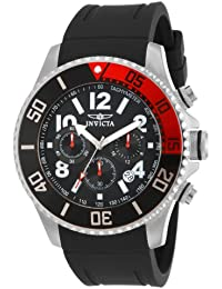 Men's 15145 Pro Diver Stainless Steel Watch With Black Polyurethane Band