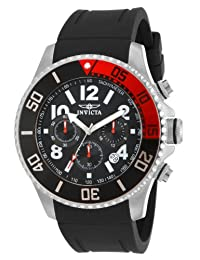 Invicta 15145 Watch Men's Pro Diver Stainless Steel With Black Polyurethane Band