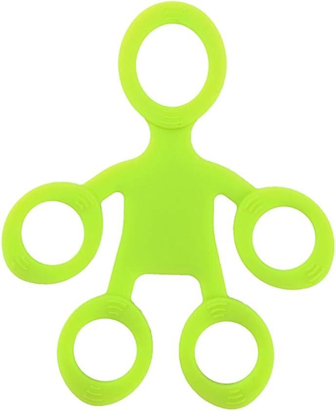 Exercice de Musculation 3 Niveaux Keahup Kofun Entra/îneur de Doigt en Silicone poign/ée de Doigt en Silicone Anneau de pr/éhension Extensible renforcement Musculaire Orange