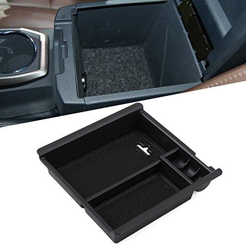 SNBLO Car Center Console Armrest Box Glove Box Secondary Storage Console Organizer Insert Tray For Toyota Tacoma 2016-2017