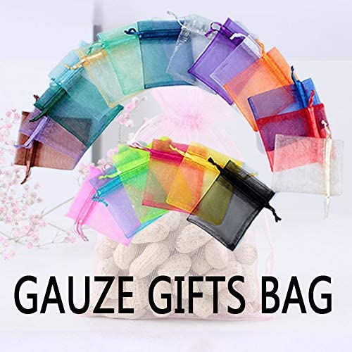 12 Wei/ß 9 Perle Mesh Bag Kosmetik Probe Probe Probe Gaze Bag Candy Bag Hochzeit Candy Verpackung Kordelzug