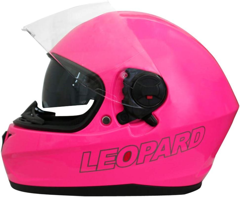 Leopard LEO-828 Doppelvisier Integralhelm Motorradhelm mit Sonnenblende Damen und Herren ECE Genehmigt
