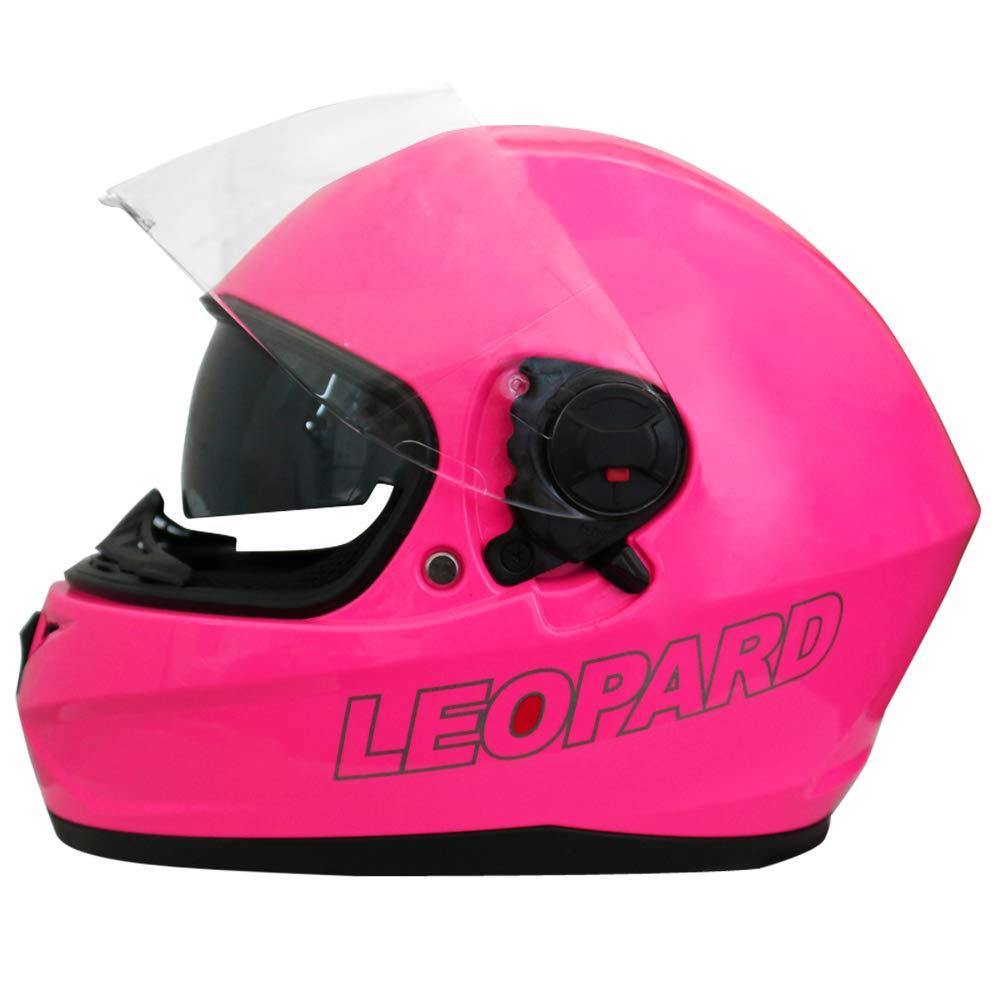 55-56cm Leopard LEO-828 Double Visor Full Face Motorbike Helmet - Motorcycle Road Legal Blue//Black//White S