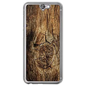 Loud Universe HTC One A9 Madala N Marble A Wood 5 Printed Transparent Edge Case - Brown