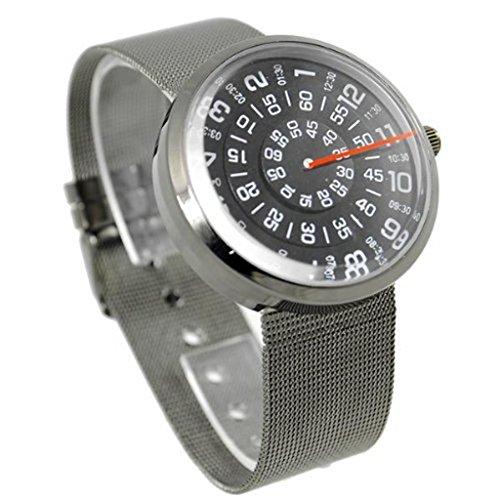 Price comparison product image Soleasy@Quartz Wrist Watch Boy Girl Lady Womens Mens Turntable Dial Digital JMW0107