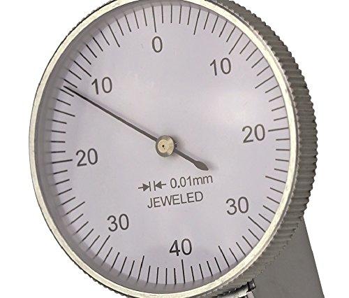 Ablesung 0,01 mm mit Rubin-Taster CNC QUALIT/ÄT F/ühlhebelmessger/ät horizontal 0,8 mm Messbereich