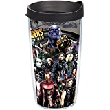 Tervis 1293723 Marvel-Avengers Infinity War Insulated Tumbler with Wrap and Black Lid, 16 oz, Clear
