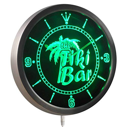 ADVPRO nc0385-g The Tiki Bar Palm Tree Beer Neon Sign LED Wall