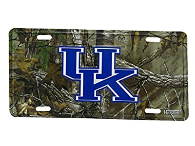 "UK Kentucky Wildcats Realtree Camouflage 6""x12"" Aluminum License Plate Tag"
