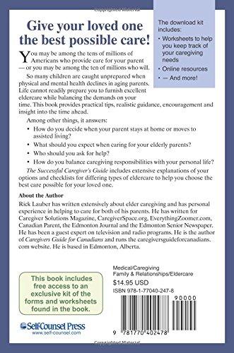 Successful Caregiver's Guide (Eldercare Series): Rick Lauber ...