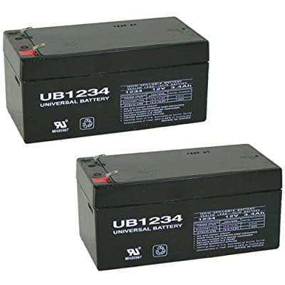 Universal Power Group 12V 3.4AH SLA Battery Replacement for Rhino SLA3-12 Each - 2 Pack : Sports & Outdoors