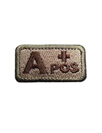 """Tactical Blood Type Patches - """"Type A Positive"""" - 2""""x1"""" (Multitan)"""