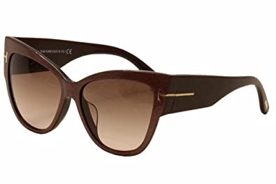 778e3c7c125cf Amazon.com  Tom Ford TF 371-F FT0371-F 50F Sunglasses Dark Brown ...