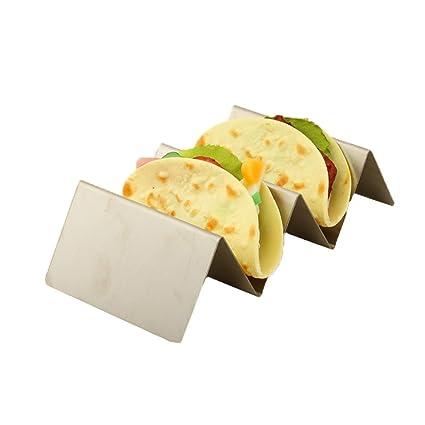 Taco Holder 2 piezas de soporte de taco de acero inoxidable ...