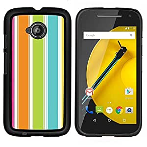 LECELL--Funda protectora / Cubierta / Piel For Motorola Moto E2 E2nd Gen -- Colorido verano vibrante Beach --