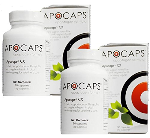 Apocaps CX Apoptogen Formula for Dogs - 180 Capsules Total (2 Bottles with 90 per Bottle) by Apocaps | EverPup