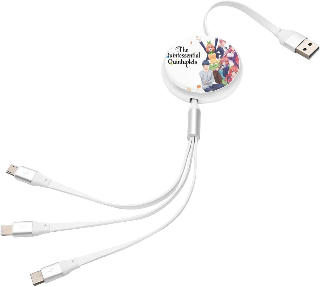 Pc Surface N//C The Quintessential Quintuplets Anime Round Three-in-One Charging Cable TPE Cable Aluminum Alloy Shell