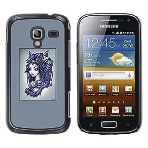 Caucho caso de Shell duro de la cubierta de accesorios de protección BY RAYDREAMMM - Samsung Galaxy Ace 2 - Goth extranjero Princesa