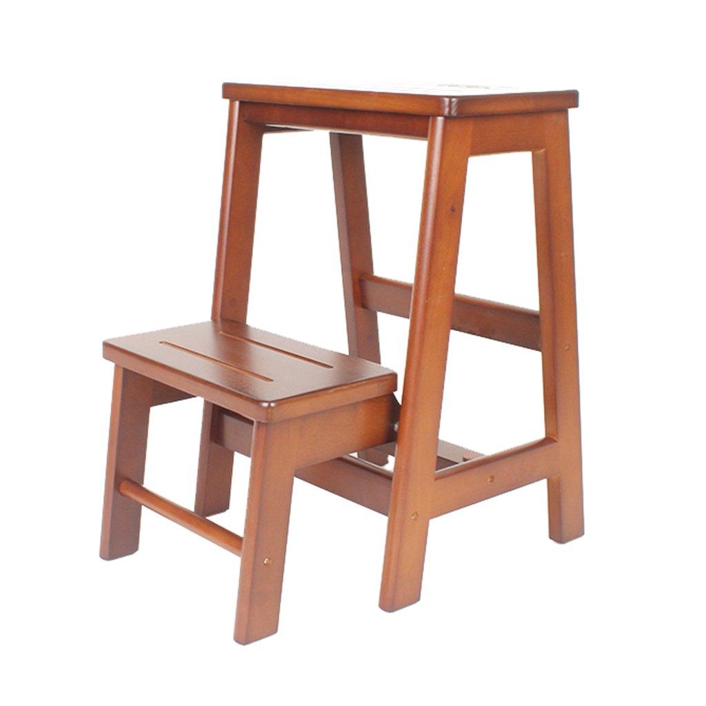 チェア 木製の折り畳みステップスツールポータブルはしごのスツール古典的なはしごのスツールスツールはしごのミニマリスト安定した高いスツールのフラワーラックの棚 B07JDNB42Z