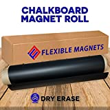 Black Dry Erase Chalkboard Magnet Sheet/roll for Kitchen or Office, With white Magnetic Chalk marker (12x16 inches)