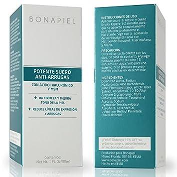 Potente Suero Antiarrugas con Acido Hialuronico, Vitamina C & MSM - Cremas para la Cara