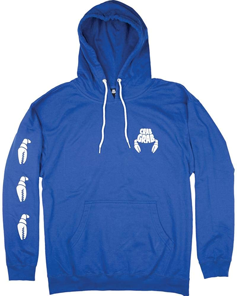 Crab Grab Claw Sleeve Hoodie Blue Size Large