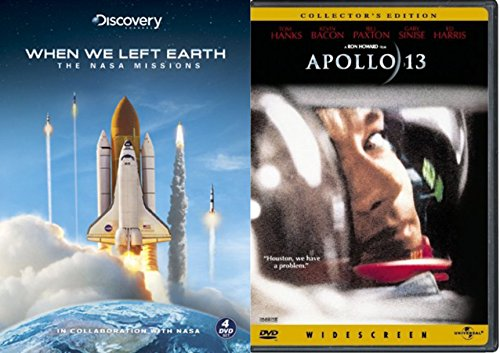 Space Shuttle Collection - When We Left Earth (Limited Edition Steelbook) & Apollo 13 (Collector's Edition) 5-DVD - Hawkings Ford Tom