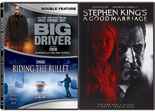 Big Bullet - Author Stephen King DVD Collection - A Good Marriage + Big Driver & Riding the Bullet Triple Feature Movie Bundle