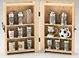 Polish Handmade Beech Wood Display Box for Shot Glasses and Mini Steins