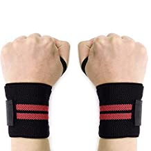 "BigTron Adjustable 18"" Crossfit Wrist Wraps Straps Support Braces with Thumb Loop for Weight Lifting, Kettlebells, Bodybuilding (1 pair)"