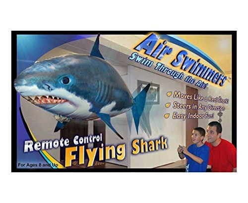 Buy air swimmers remote control flying shark at the we for Remote control flying fish