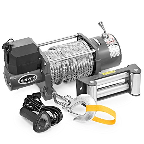 LD17-PRO Electric Heavy Duty Recovery Winch - 17,000 lbs. Capacity - Wired Remote Control - by Driver Recovery Products