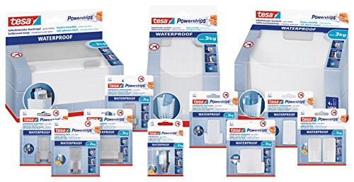 Tesa Powerstrips® Waterproof Double-Sided Removable Adhesive Strips 6 Strips