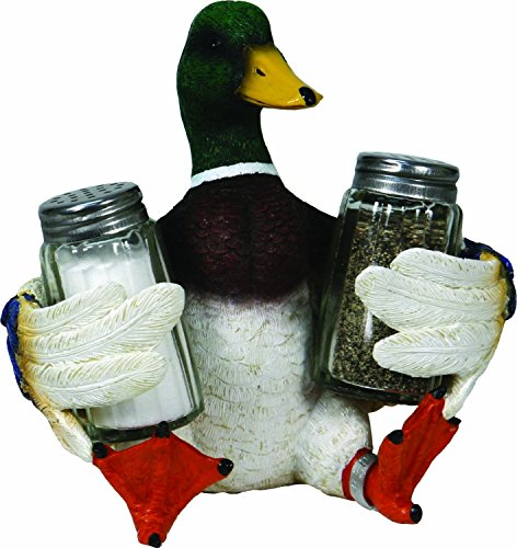 River's Edge Beautiful Hand Painted Poly Resin Salt and Pepper Shaker Set (Duck)