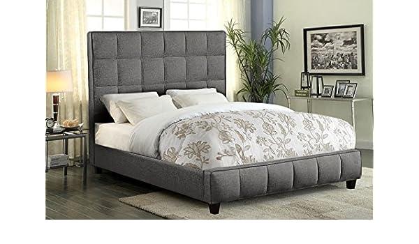 Amazon Com Diamond Furniture Loftckbedgr Loft Grid Tufted Cal King