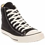 Converse Chuck Taylor All Star Canvas High Top Sneaker, Black, 6.5 US Men/8.5 US Women
