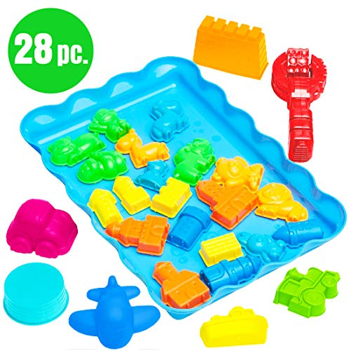 Usa W Sand Castle Play Toyz Moulds 28pc Moldes rxBoCde
