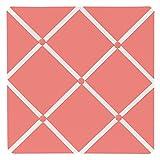 Sweet Jojo Designs Modern White and Coral Diamond Geometric Fabric Memory/Memo Photo Bulletin Board