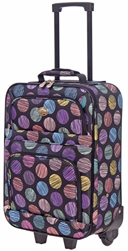 Rick Steves Suitcase (Jetstream 20 Inch Lightweight Luggage Softside Carry On Suitcase (Circles))