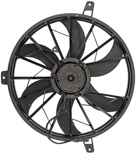 APDTY 731121 Radiator Cooling Fan Assembly Fits 1999-2003 Jeep Cherokee / 2002-2003 Jeep Liberty (Replaces 52079528AB)Cherokee 4.0L Engines w/o Trailer Tow Package, Liberty 4.7L w/ Max (Jeep Grand Cherokee Radiator Fan)