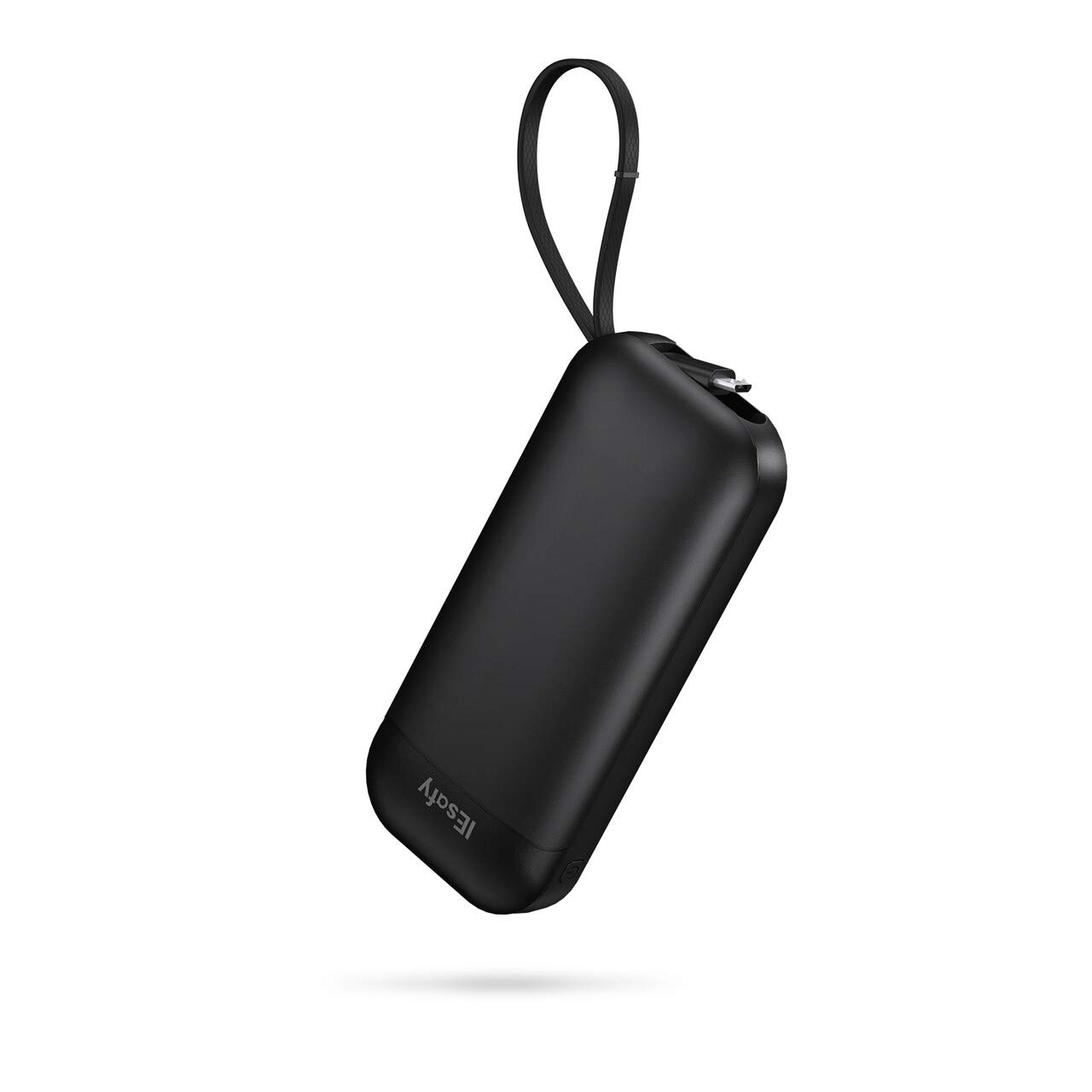 IEsafy N1 10000mah Small High-Speed Charging Portable Charger with Built-in Cable Power Bank Compatible with Samsung, Xiaomi and More