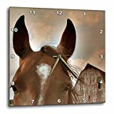 3dRose dpp_12307_1 Wall Clock, Horse and Barn in Sepia, 10 by 10-Inch Review